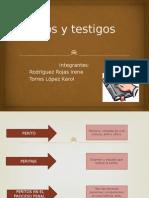diapositiva , testigos  peritos