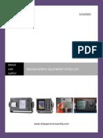 Navigation Equipment Stock List 3