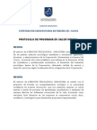 Protocolo de Programa en Salud Mental