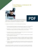 Identificación de Peligros y Evaluacion de Riesgos y Su Control