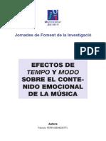 Efectos de Tempo y Modo Sobre El Contenido Emocional de La Música