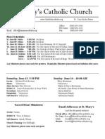 Bulletin for June 7, 2015