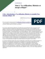 Contretemps - À Lire _ Introduction à &Quot;La Réification. Histoire Et Actualité d'Un Concept Critique&Quot; - 2014-03-23