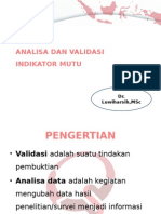 Analisa Dan Validasi Indikator Mutu