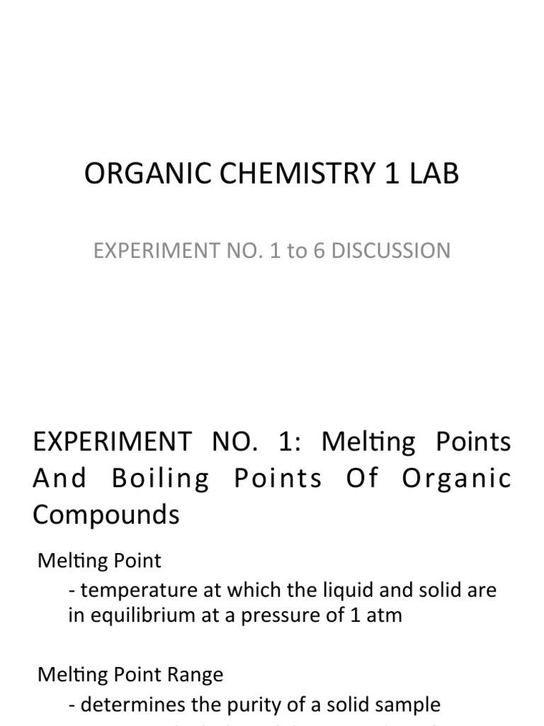discussion of melting point experiment
