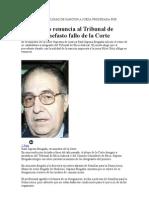 Dr.Sapena Brugada Renuncia a Tribunal Etico
