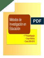 Tema Métodos y Técnicas de Inv, Educ,