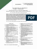 Advanced Oxidation of Atrazine in Water—I. Ozonation