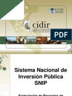 SNIP - Formulacion de Proyectos de Inversion