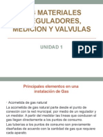 1.3 Materiales, Reguladores, Mediccion y Valvulas