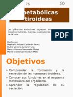 Hormonas Metabólicas Tiroideas