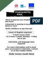 FREE Employ Ability ESOL Flyer Feb 2010
