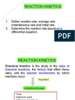 Matriculation Chemistry ( Reaction Kinetics ) part 1