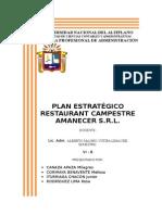 PLANEAMIENTO ESTRATEGICO AMANECER