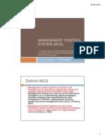 Management Control System (MCS)