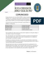 MODELO DE COMUNICADO