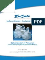 EuSalt AS007-2005 Potassium - Sodium Tetraphenylborate Volumetric Method