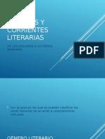 G Neros y Corriente Literarias