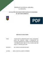 Ante Proyecto Majejo de Cuencas