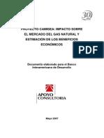 Proyecto Camisea- Impacto Sobre El Mercado Del Gas Natural y Estimación de Los Beneficios Económicos