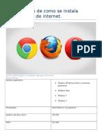 Investigación de Como Se Instala Navegadores de Internet