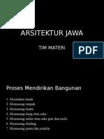 Arsitektur Jawa (Materi)