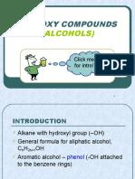 Matriculation Chemistry ( Hydroxy Compound )