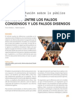 Orellana,Victor y Gajardo Fabián-La gran Confusión Sobre Lo Publico en Educacion. Los riesgos entre los Falsos Consensos y los Falsos Disensos