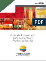Guia de Etiquetado Para Alimentos y Productos Textiles