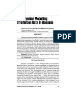 Bayesian Modelling of Romianian Inflation