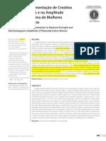 Suplementação de Creatina e Aumento de Força e EMG
