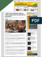 Caracteristicas de Ejecutivos Peru El Comercio