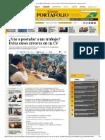 Errores CV El Comercio