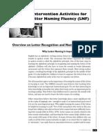 Letter Naming Fluency Interventions