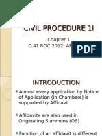 Chapter 1 Affidavit