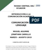 Ensayo Académico La comunicación y el Lenguaje