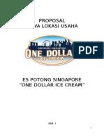 Proposal Es Potong Singapore One Dollar