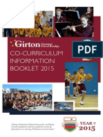 co-curriculum information booklet year 7 2015