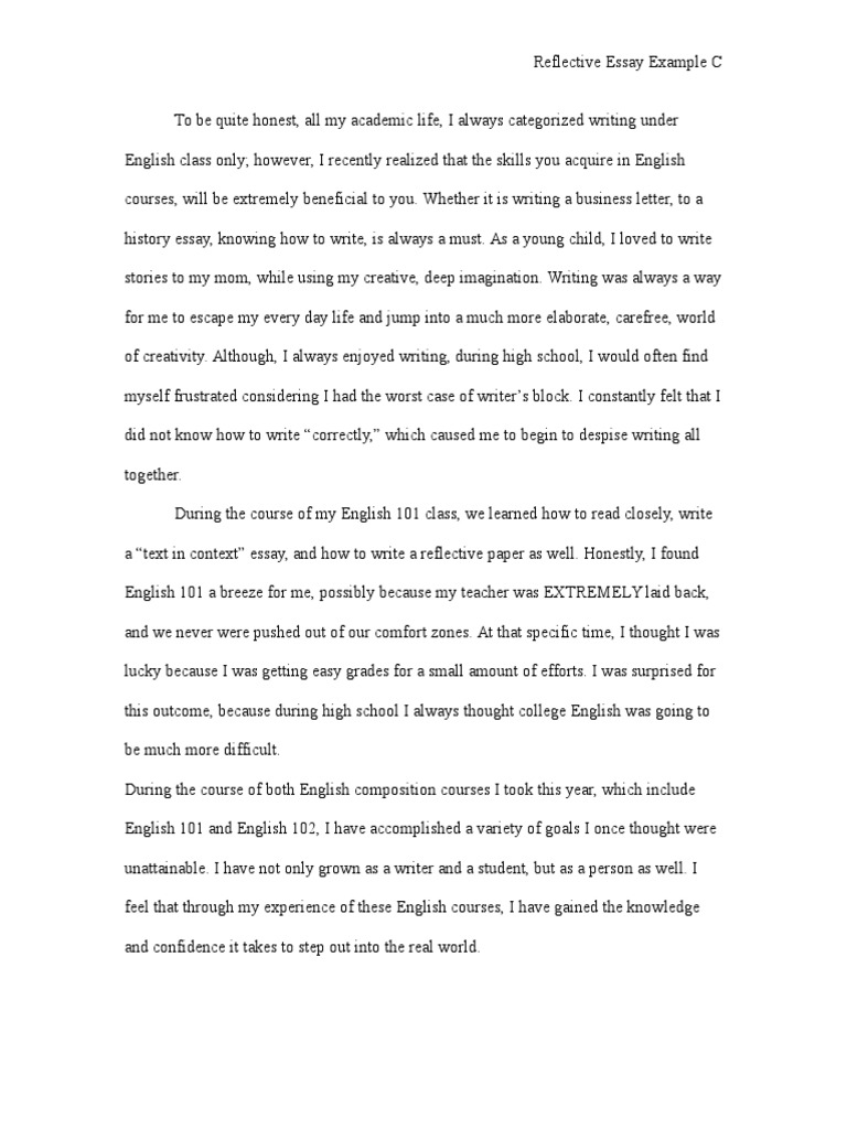 How To Write A Thesis Sentence For An Essay  Barack Obama Essay Paper also Argumentative Essay On Health Care Reform English Class Reflection Essay Reflective Essay English  Sample Essay Paper