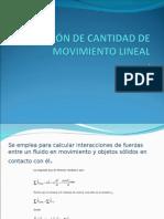 Ecuación de La Cantidad de Movimiento 15may2015