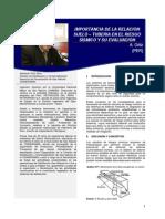 Importancia de La Relación Suelo – Tuberia en El Riesgo Sísmico y Su Evaluación