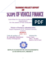 """SCOPE OF VEHICLE FINANCE Gaurav Gupta.doc"