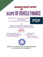 """""""SCOPE OF VEHICLE FINANCE Gaurav Gupta.doc"""
