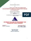 Comparative analysis of MARKETING STRATEGIES OF AIRTEL & Vodafone (1) (copy).doc