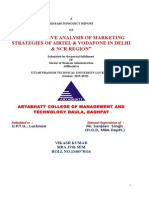 Comparative analysis of MARKETING STRATEGIES OF AIRTEL & Vodafone (1) (copy).doc