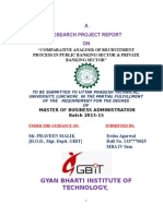 comparative analysis of RECRUITMENT of public and private bank sector.doc