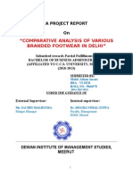 Comparative Analysis Of Various Branded Footwear in Delhi NCR (Woodland).doc