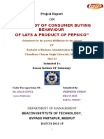 COMPARITIVE STUDY ON CONSUMER BUYING BEHAVIOUR OF LAYS POTATO CHIPS NEW.doc