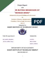 CONSUMER BUYING BEHAVIUOR OF YAMAHA BIKE (2).doc