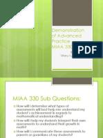 demo of adv practice miaa330pdf